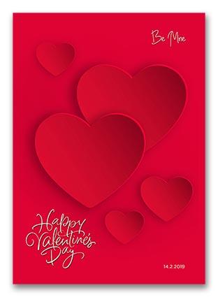 Vector Valentine Hearts Background